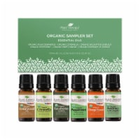 Plant Therapy Organic 10mL Essential Oils Sampler Gift Pack, 0.33 Oz, Set of 6 - 1 Piece