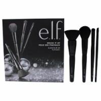 e.l.f. Brush It Up Set Powder Brush, Blush Brush, Small Angled Brush, Eyeshadow C Brush 4 Pc