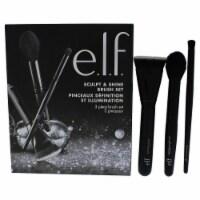 e.l.f. Sculpt and Shine Brush Set Contouring Brush, Highlighting Brush, Contour Brush 3 Pc