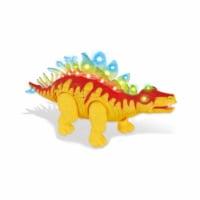 AZ Import D638 Orange Walking Stegosaurus with Flashing & Sounds Dinosaur Toys for Kids - Ora - 1
