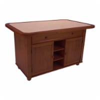 Sunset Trading Oak Selections Transitional Wood Kitchen Island in Brown/Oak - 1