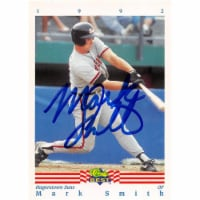 Autograph Warehouse 465744 Mark Smith Autographed Baseball Card, 1992 Classic Best Rookie No. - 1