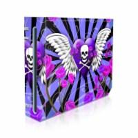 DecalGirl WII-SKULLROSE-PRP Nintendo Wii Skin - Skull & Roses Purple - 1