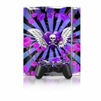 DecalGirl PS3-SKULLROSE-PRP PS3 Skin - Skull & Roses Purple - 1