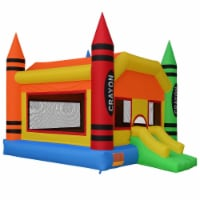 The Crayon Bounce House with Slide by Cloud 9