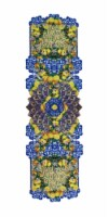 Ma Perle Peach Collection 17.32 W X 64.17 L Blue & Yellow Polyester Table Runner (Set of 1) - 1 unit