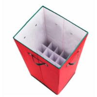 Elf Stor 83-DT5019 All Occasion Vertical 30 in. Wrapping Paper Storage Box with Lid, Red - 1