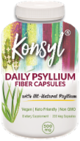 Konsyl Daily Psyllium Fiber 500mg Capsules