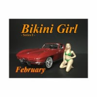 American Diorama 38166 February Bikini Calendar Girl Figure for 1 isto 18 Diecast Model Car