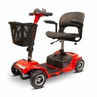 EWheels EW-M34 4 Wheel Travel Electric Battery Medical Mobility Scooter, Red - 1 Unit