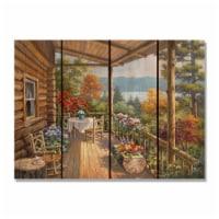 Day Dream HQ SKSD2216 22 x 16 in. Kims Summer Deck Inside & Outside Cedar Wall Art - 1