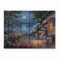 Day Dream HQ SKED3324 33 x 24 in. Kims Evening Deck Inside & Outside Cedar Wall Art - 1