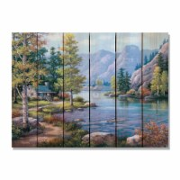 Day Dream HQ SKAR3324 33 x 24 in. Kims Autumn River Inside & Outside Cedar Wall Art - 1