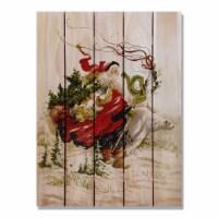 Day Dream HQ PAPS2836 28 x 36 in. Abrams Polar Santa Inside & Outside Cedar Wall Art - 1