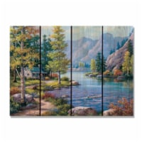 Day Dream HQ SKAR2216 22 x 16 in. Kims Autumn River Inside & Outside Cedar Wall Art - 1