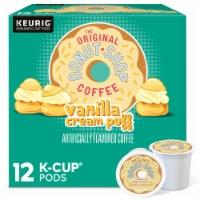 The Original Donut Shop Vanilla Cream Puff Coffee K-Cup Pods - 12 ct