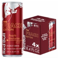 Red Bull Peach Edition Energy Drink 4 Count