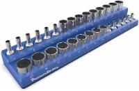 Precision Defined Magnetic Tool Socket Organizer Holder, METRIC, 30 Sockets (3/8  Drive Blue) - 1