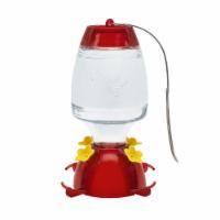 MEKKAPRO Oasis Hummingbird Feeder, 20 Ounce, Glass Hanging 4 Nectar Feeding Stations