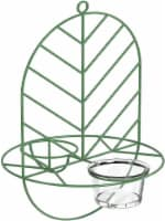 MEKKAPRO Leaf Oriole Bird Feeder, Dual Jelly Orange Feed, Fits Clementine Nectar (Leaf Green) - 1