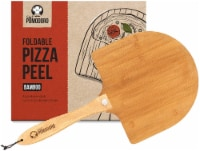 Chef Pomodoro Bamboo Pizza Paddle with Foldable Wood Handle for Easy Storage - 1