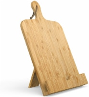Chef Pomodoro Cookbook Recipe Stand | Fits iPad/Tablets and Cookbooks, Wooden Kickstand
