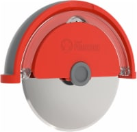 "Chef Pomodoro Pizza Cutter Wheel with Protective Cover Blade Guard 4"" Slicer (Orange) - 1"