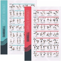 FitMate Dumbbell and Barbell Bundle Workout Exercise Poster - Workout Routine - 1