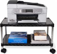 ZBRANDS // Printer Cart Max, 24  x 14 , Mobile Fax Stand with Swivel Wheels (Max) - 1