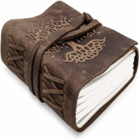 Asheville Tree of Life Leather Journal Notebook, Unlined 120 Pages (8  x 6 ) - 1