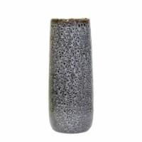 Ceramic 17 H Vase, Black - 1