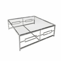 Stainless Steel/Glass Cocktail Table, Silver Kd - 1