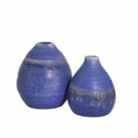 S/2 Ceramic Drip Glaze Egg Vases, 6/5 , Blue - 1