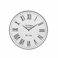 Metal Wall Clock 31.5  White Wb - 1