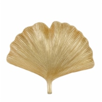 Resin 14  Ginkgo Plate, Gold - 1