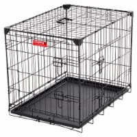 Lucky Dog 2 Door Dog Training Kennel w/ Leak Proof Removable Pan & Mat, Small - 1 Unit