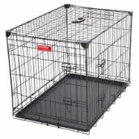 Lucky Dog 2 Door Dog Training Kennel w/ Leak Proof Removable Pan & Mat, Medium - 1 Unit