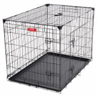 Lucky Dog 2 Door Dog Training Kennel w/ Leak Proof Removable Pan & Mat, Large - 1 Unit