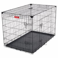 Lucky Dog 2 Door Training Kennel with Handle and Removable Pan for Large Dogs - 1 Unit