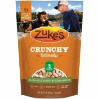 Zukes ZK30008 12 oz Crunchy Naturals Dog Treats with Peanut Butter & Apples - 1