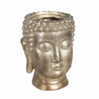 Resin 9  Buddha Head Planter, Gold - 1