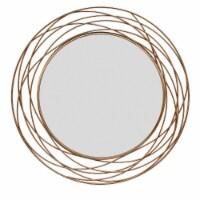 Metal 36  Swirl Mirror, Gold Wb - 1