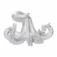 Polyresin 10  Octopus Figurine, Silver - 1
