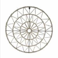 24  Geometric Circle Wall Art, Natural - 1