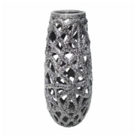 Cer, 13  Cut-Out Vase, Silver - 1
