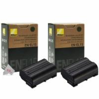 2 Genuine Nikon En El15 Batteries Bundle For Nikon D750 D780 D850 D500 D7500
