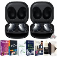Two Samsung Galaxy Buds Live Noise-canceling Wireless Headphones Black With Software Kit
