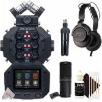 Zoom H8 8-input 12-track Digital Handy Audio Recorder + Zdm-1 Podcast Mic Bundle