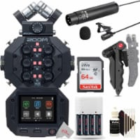 Zoom H8 8-input 12-track Digital Handy Audio Recorder + Mic Accessory Kit - 1