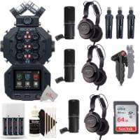Zoom H8 8-input 12-track Digital Handy Audio Recorder + Three Podcast Mic Kit - 1